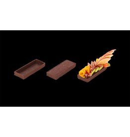 Delifrance Delifrance - Tart shell, rectangle, Chocolate - 4x1.5'' (75ct), 79028