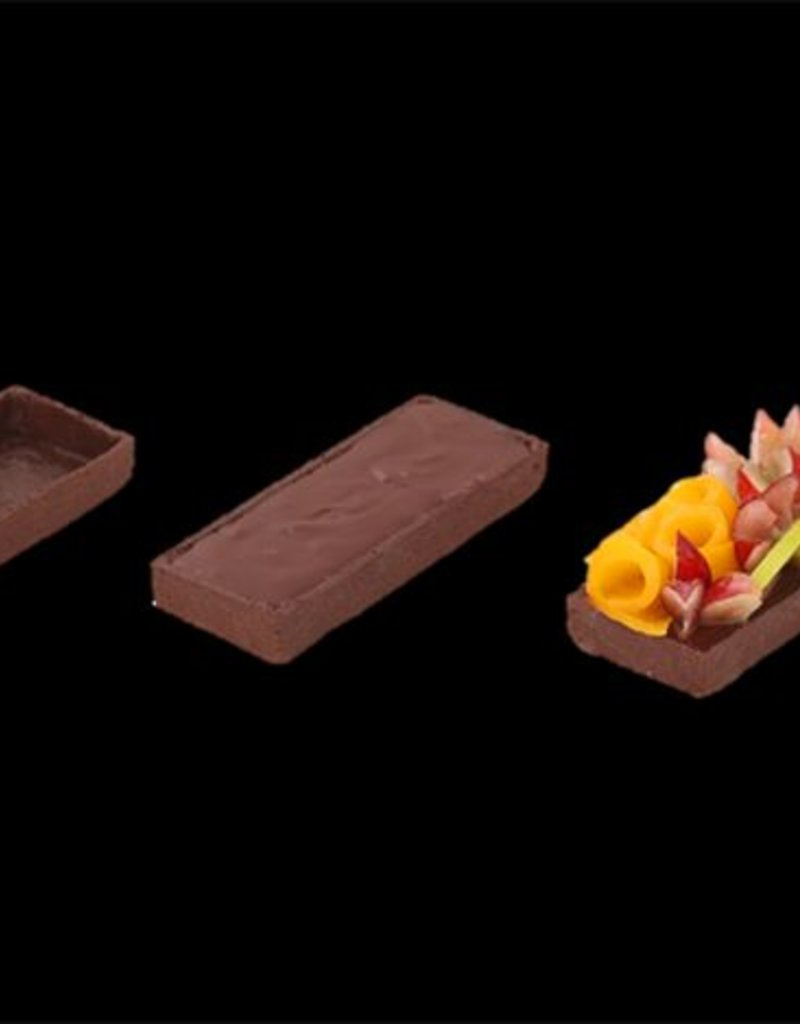 Delifrance Delifrance - Tart shell, Chocolate rectangle - 4x1.5'' (75ct), 79028