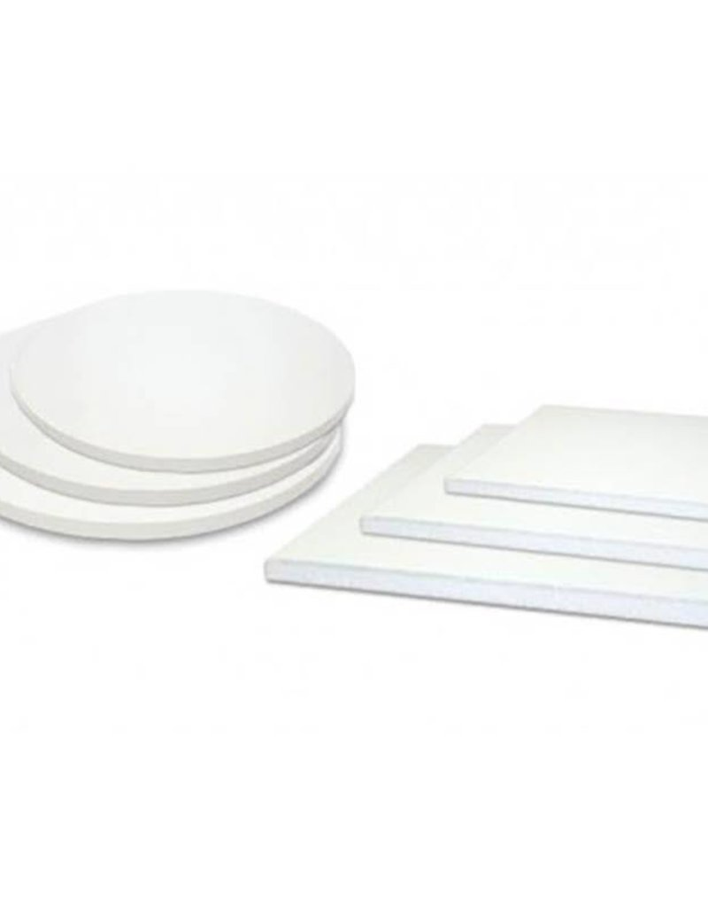"Enjay Enjay - Cake drum - 1/4"" square, White - 12"""