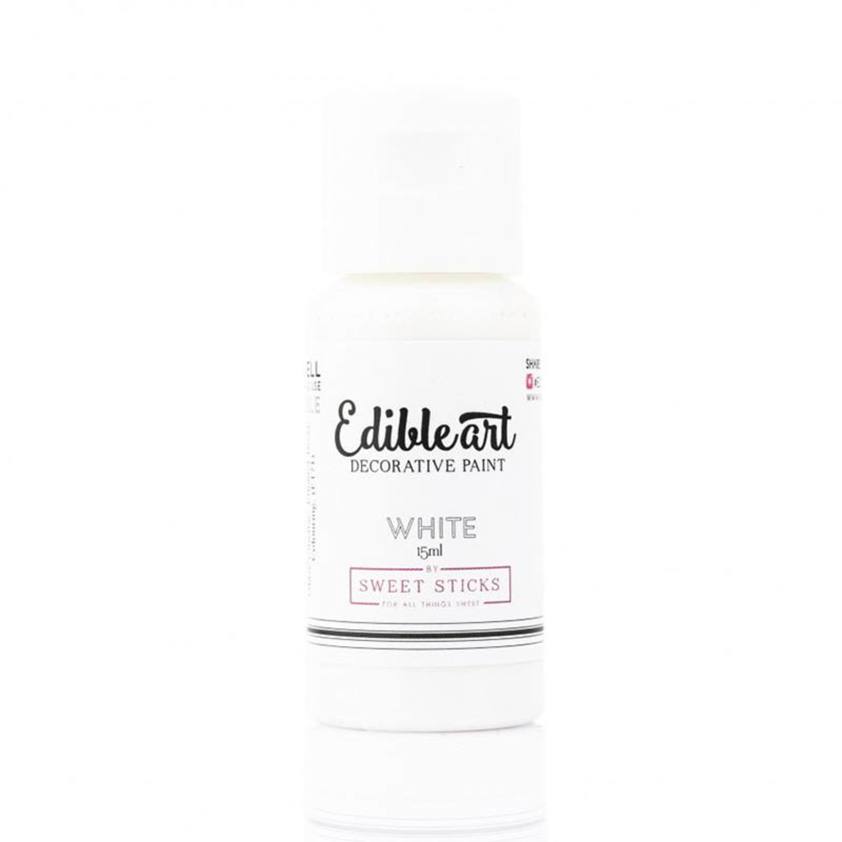 Sweet Sticks Sweet Sticks - White Edible Art Paint - 15mL