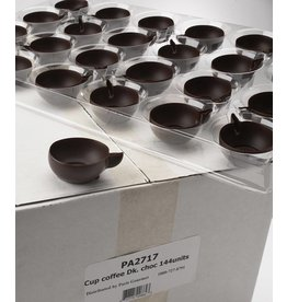 Pastry 1 Pastry 1 - Mini Tea cup Dark Chocolate Vessel - 1.75'' (144ct), PA2717