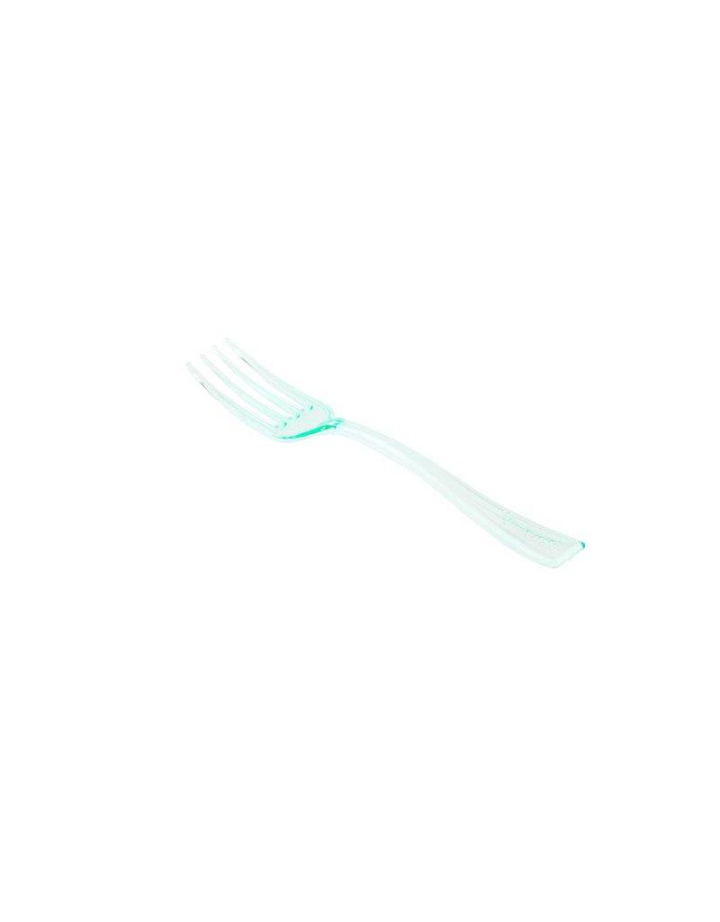 RestaurantWare Plasticware - Mini Fork, Green - 4'' (100ct), RWP0057G-S