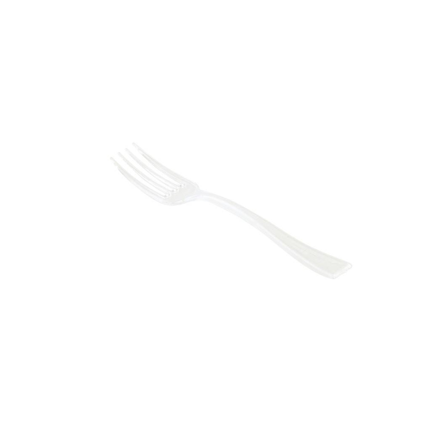 RestaurantWare Plasticware - Mini Fork, Clear - 4'' (100ct), RWP0057C-S