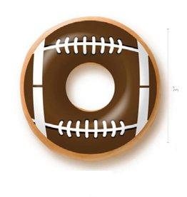 Dobla Dobla - Chocolate Donut Topper, Football (60ct), 23200-R