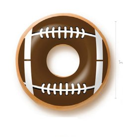 Dobla Dobla - Chocolate Donut Topper, Football (60ct), 23200-R