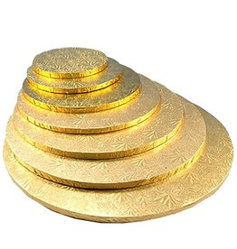 "Enjay Enjay - Cake drum - 1/2"" round, Gold (box of 6) -"