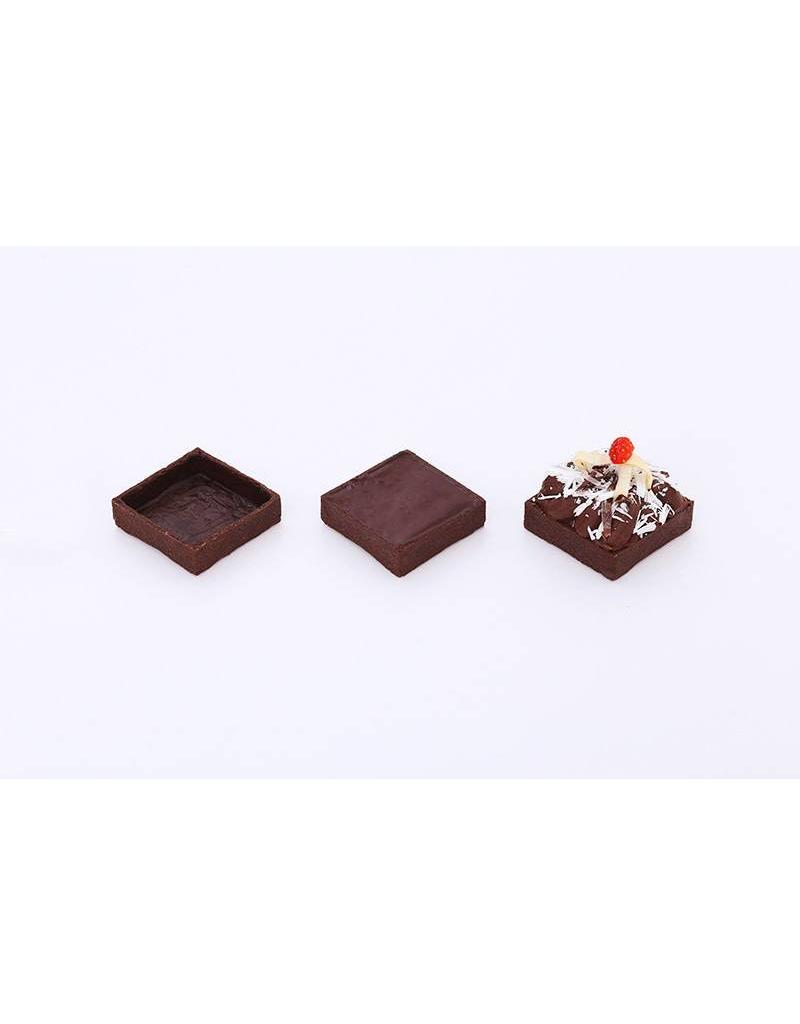 Delifrance Delifrance - Tart shell, Chocolate square - 2'' (20ct) sleeve, 78452-S