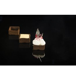 Delifrance Delifrance - Tart shell, square, Chocolate - 1.5'' (48ct) sleeve, 78451-S