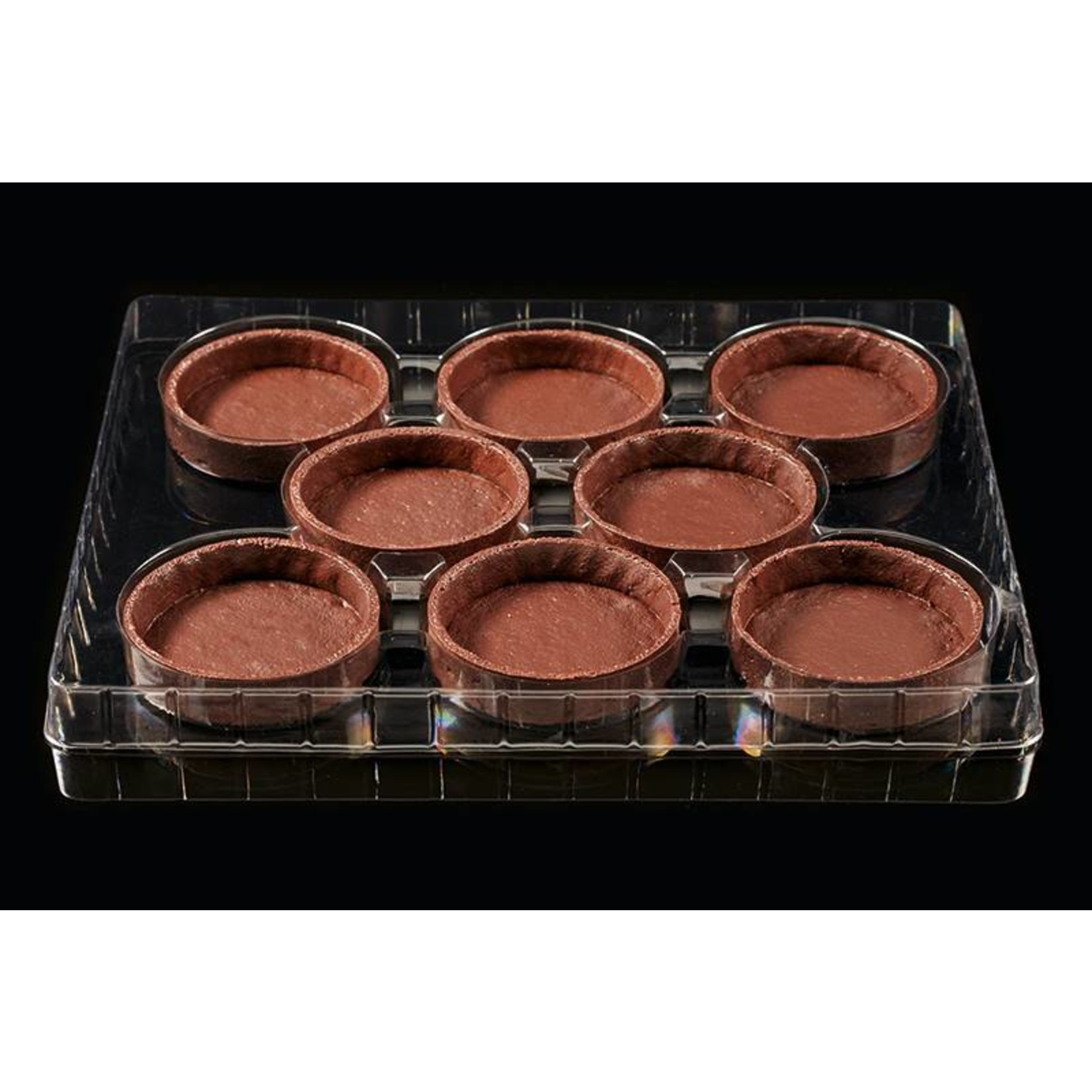 Delifrance Delifrance - Tart shell, Chocolate round - 4'' (8ct) sleeve, 78450-S