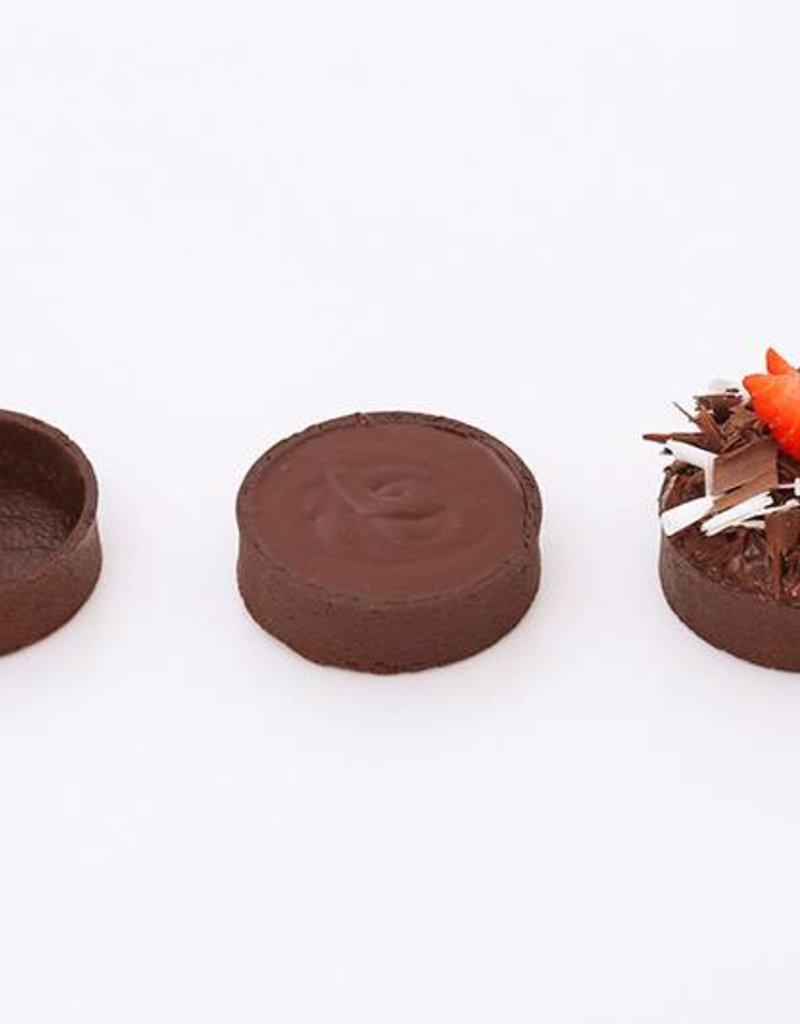 Delifrance Delifrance - Tart shell, Chocolate round - 2'' (20ct) sleeve, 78449-S