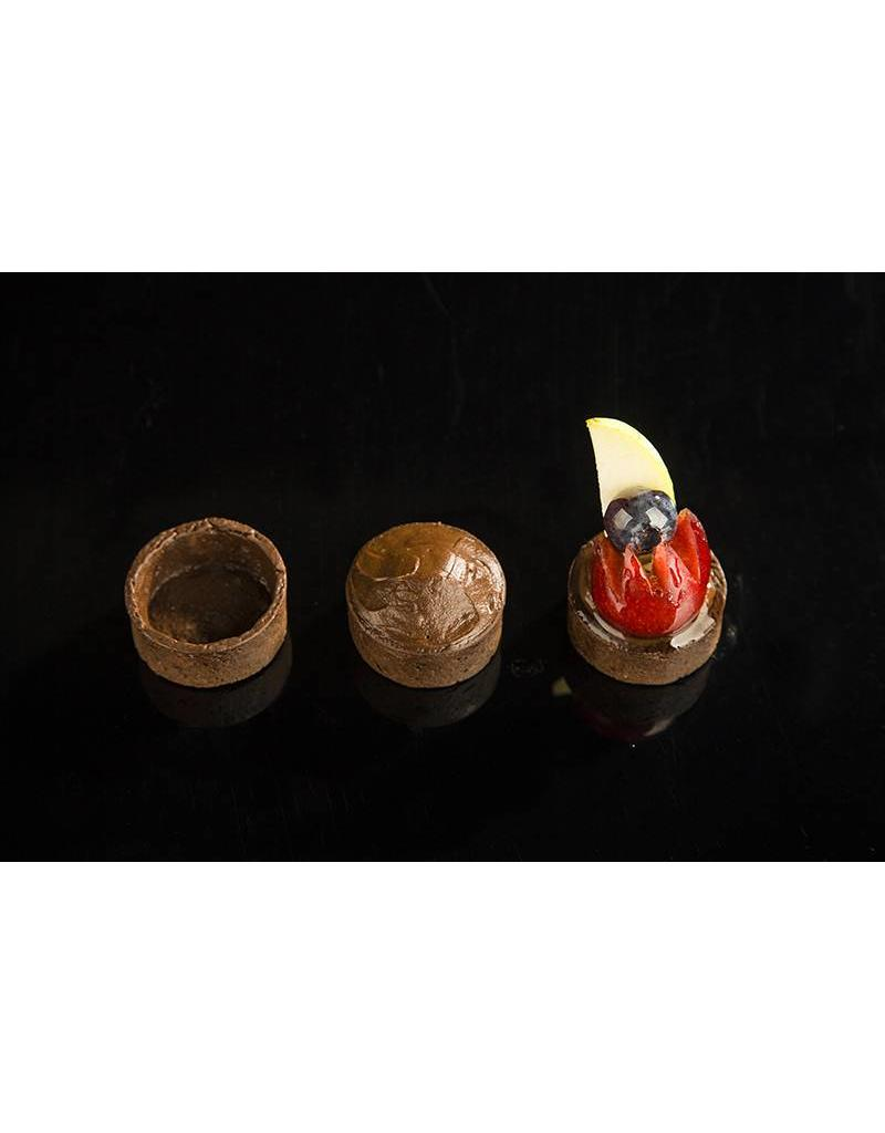 Delifrance Delifrance - Tart shell, Chocolate round - 1.5'' (48ct) sleeve, 78448-S