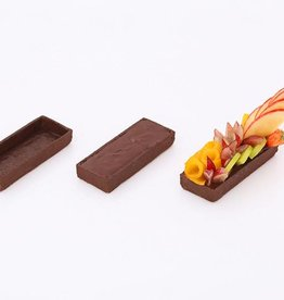 Delifrance Delifrance - Tart shell, Chocolate rectangle - 4x1.5'' (15ct) sleeve, 79028-S