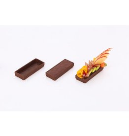Delifrance Delifrance - Tart shell, rectangle, Chocolate - 4x1.5'' (15ct) sleeve, 79028-S
