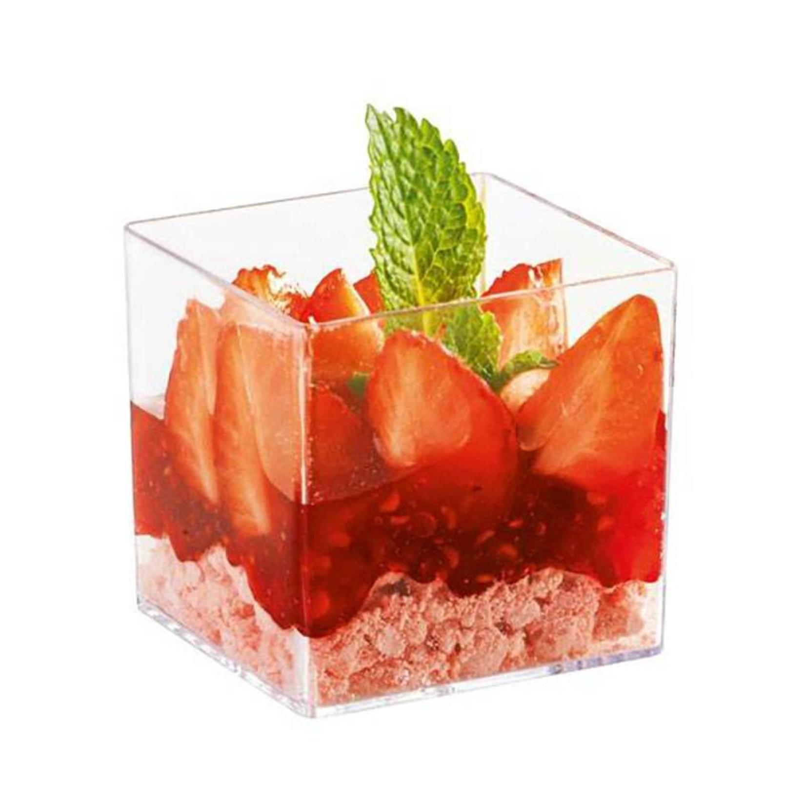 Sweet Flavor Plasticware - Cube Cup, - 3oz (200ct) DD30320