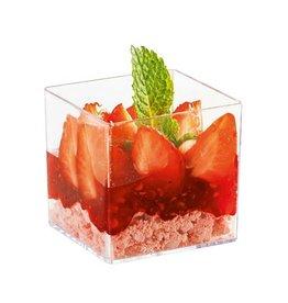 Sweet Flavor Plastic vessel - Cube Cup, - 3oz (200ct) DD30320