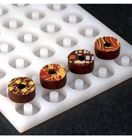 Pavoni Pavoni - Chocoflex silicone mold, Ring (40 cavity), LS06