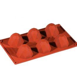 Pavoni Pavoni - Formaflex silicone mold, Diamante (6 cavity), FR034