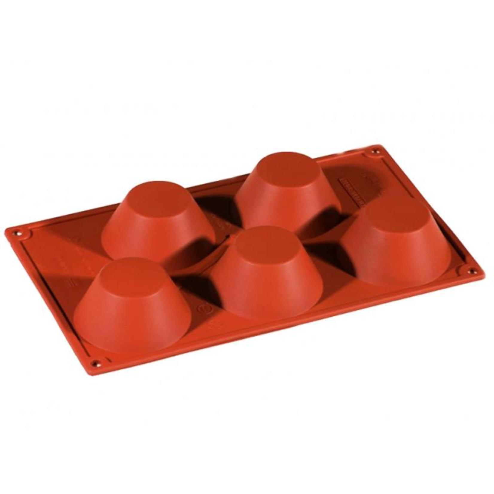 Pavoni Pavoni - Formaflex silicone mold, Muffin (5 cavity), FR029