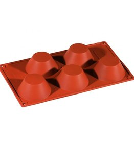 Pavoni Pavoni - Formaflex silicone mold, Muffin (5 cavity), FR029