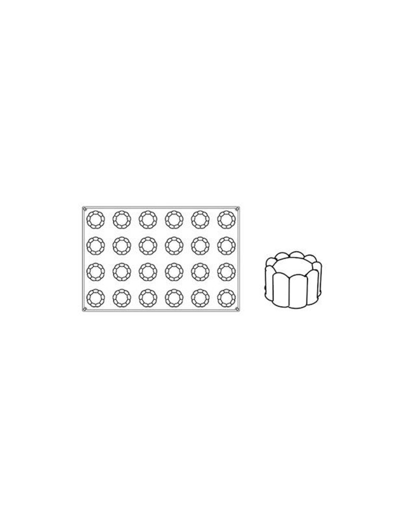 Pavoni Pavoni - Pavoflex silicone mold, Charlotte (24 cavity), PX051