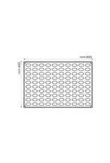 Pavoni Pavoni - Pavoflex silicone mold, Mini Quenelle Mignon (100 cavity), PX072