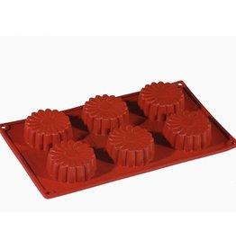 Pavoni Pavoni - Formaflex silicone mold, Mini Daisy (6 cavity), FR045