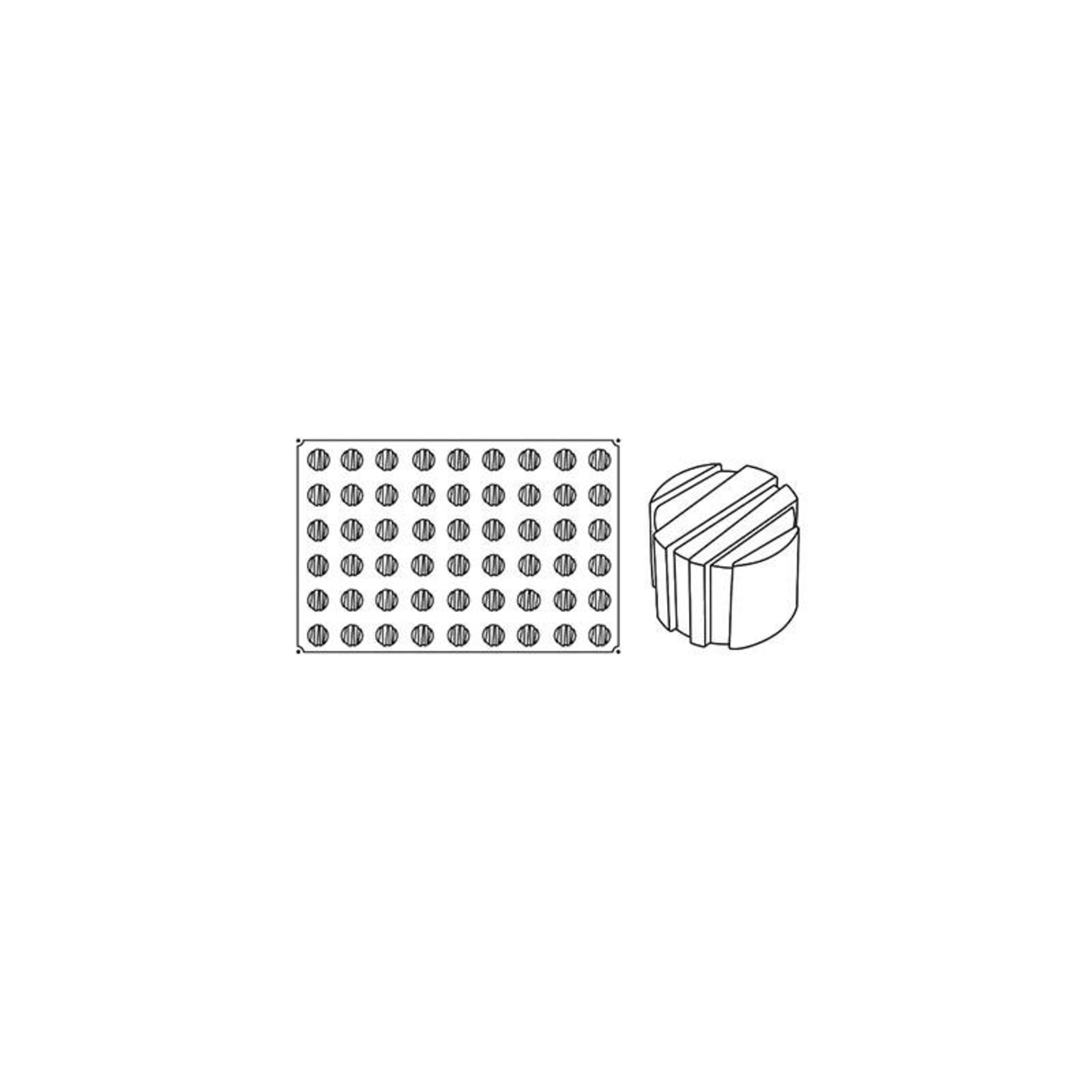 Pavoni Pavoni - Pavoflex silicone mold, Rigo Mignon (54 cavity), PX020