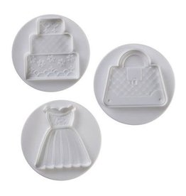 Pavoni Pavoni - Cutter Kit, Wedding set, 3 pcs, NO3009