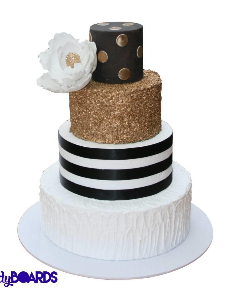 Unger Unger - Sturdy cake board - round, White -