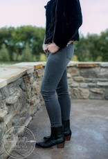 KUT from the Kloth Gray Mia High Waisted Skinnies