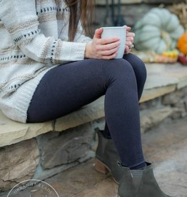 Nikibiki Ribbed Charcoal Leggings
