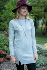 Sweater Dress with Lace-Up Detail