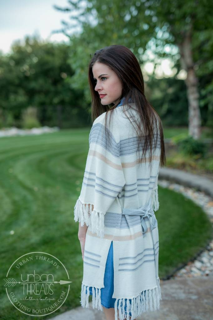 Lace-Up Chambray Dress