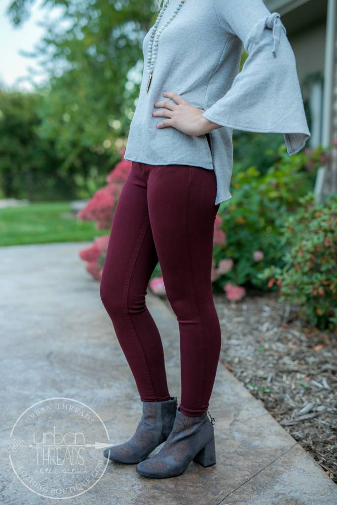 KUT from the Kloth Donna Plum Ankle Skinnies