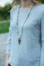 Jade Glam Arrowhead Necklace