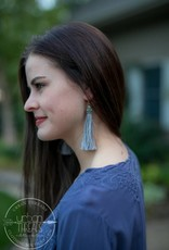 Grey Tayla Tassel Earring