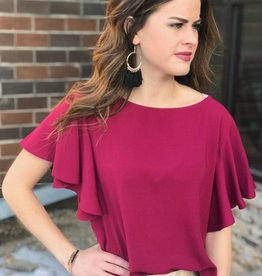 Taunt Burgundy Blouse