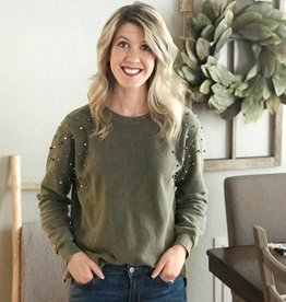 Pearl Studded Sweatshirt
