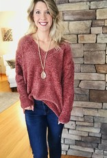Dark Ginger Chenille Sweater