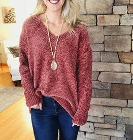 Dark Ginger Chenille Sweater