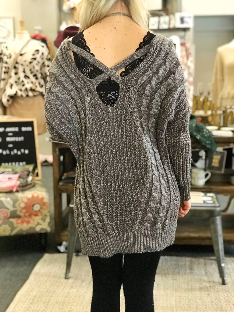 Grey Slouchy Sweater
