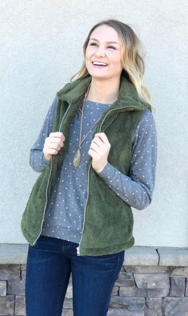Alternative Apparel Eco Jersey Pullover (Polka Dot)