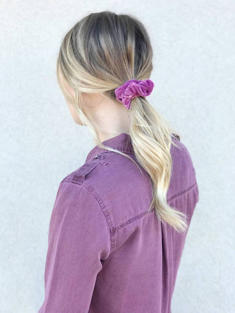 Bubblegum Velevet Scrunchie Set