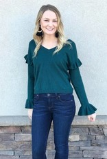 Out To Lunch Evergreen Sweater