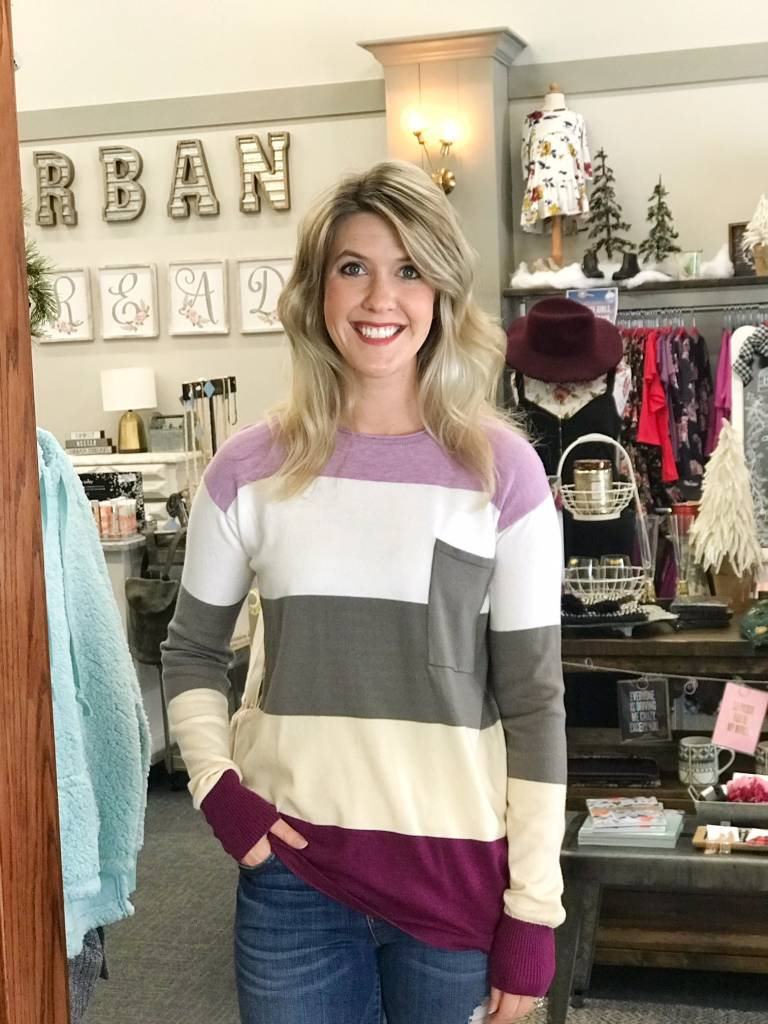 Lavender Color Block Top