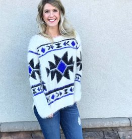 Aztec Fluffy Sweater