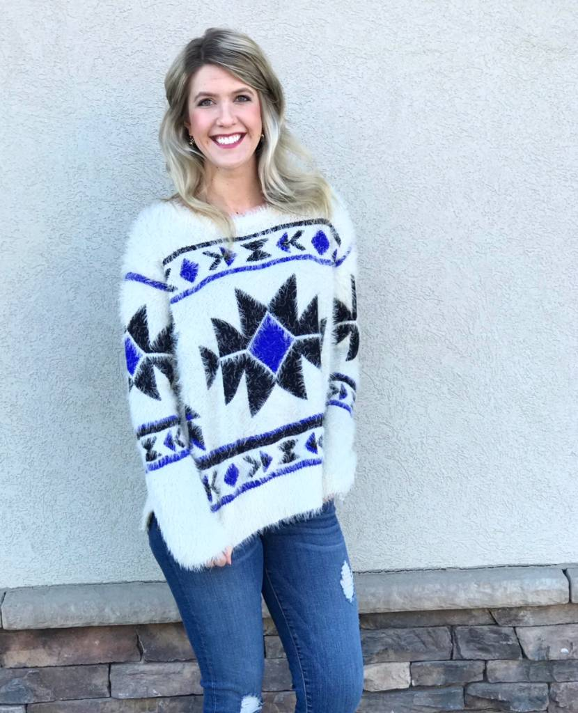 Aztec Fluffy Sweater