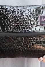 Medium Midnight Gator Makeup Bag