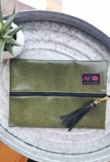 Medium Green Makeup Bag