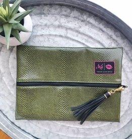 Medium Green Makeup Bag